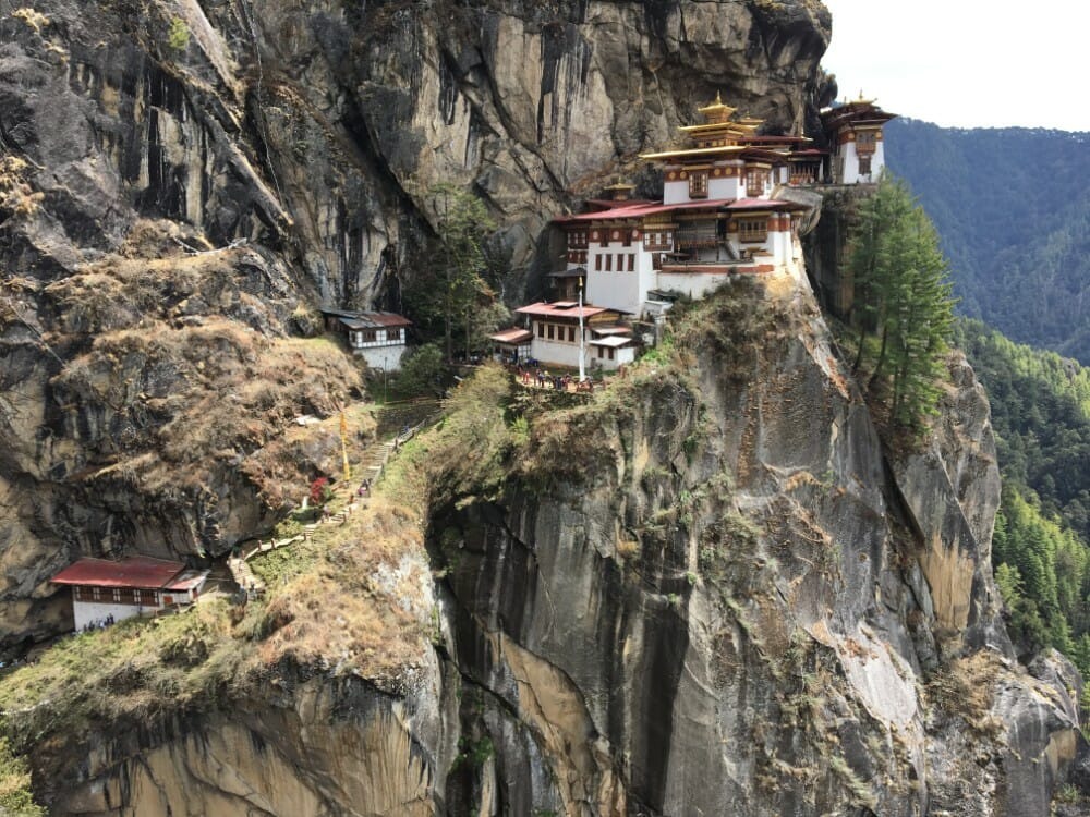 Tiger's nest temple guide - Paro Taktsang Monastery Trail - steps towards temple