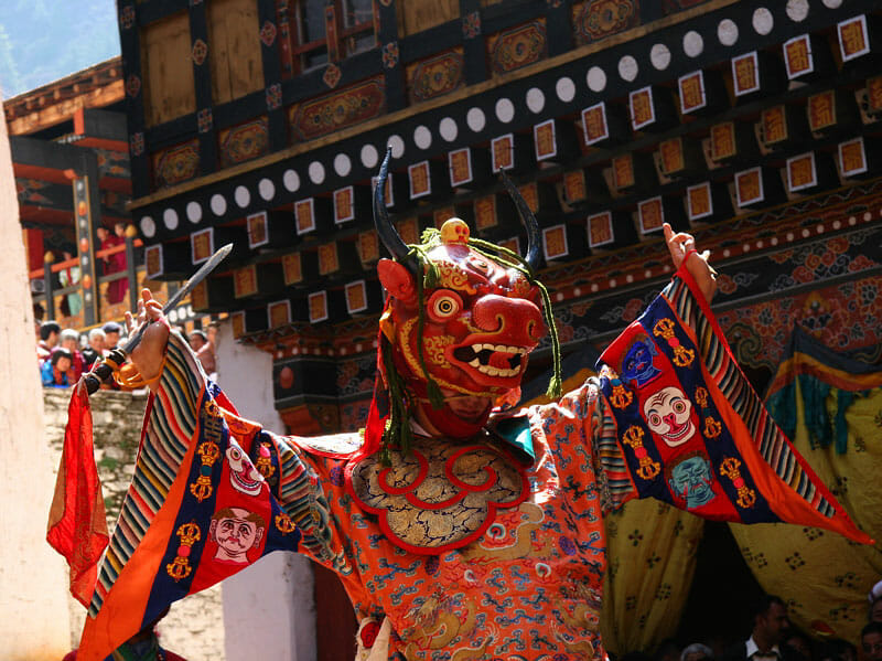 Rinpung Dzong Paro, National Museum of Bhutan_Attractions_Rinpung Dzong_3_Dance of the Lord of Death