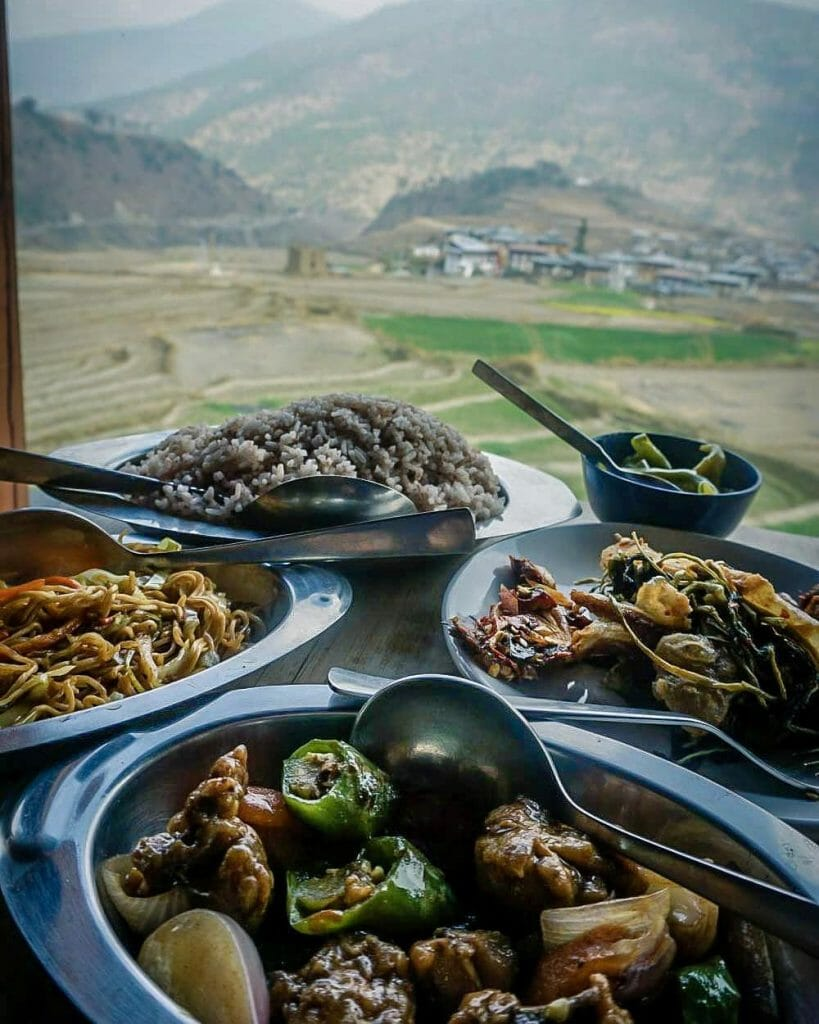 Places Paro Bhutan food @ckpettersen