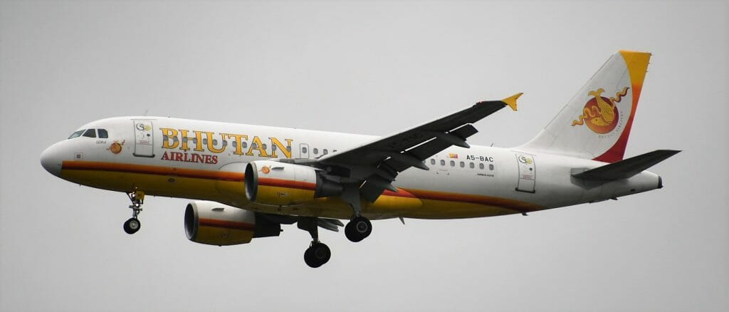 Bhutan Airlines Flight Schedules and Destinations - Kathmandu, Bangkok_Airbus A319