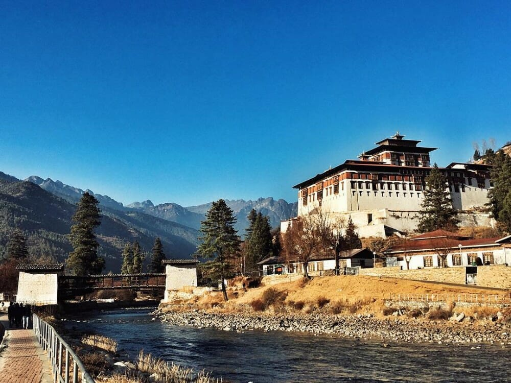 8 Nights Bhutan Trip Cost with Phobjikha Valley and Chele La Pass Haa_D7_Rinpung Dzong